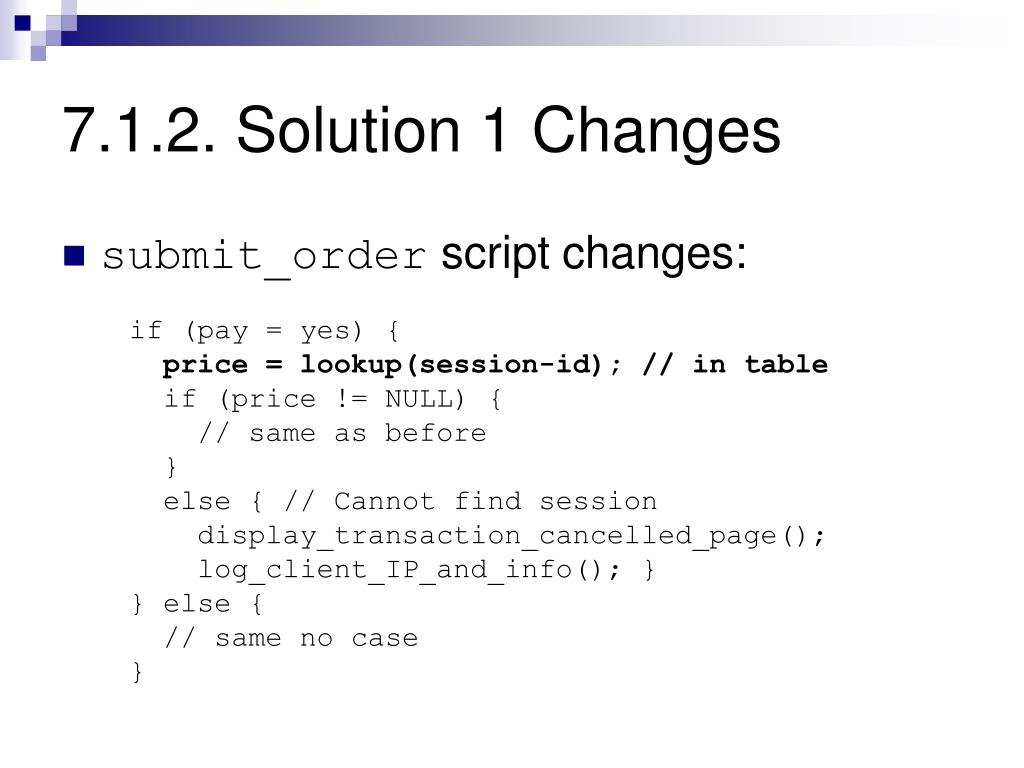 7.1.2. Solution 1 Changes