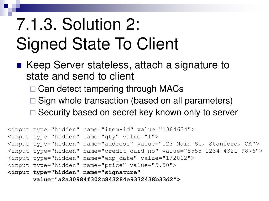 7.1.3. Solution 2: