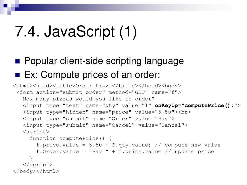 7.4. JavaScript (1)
