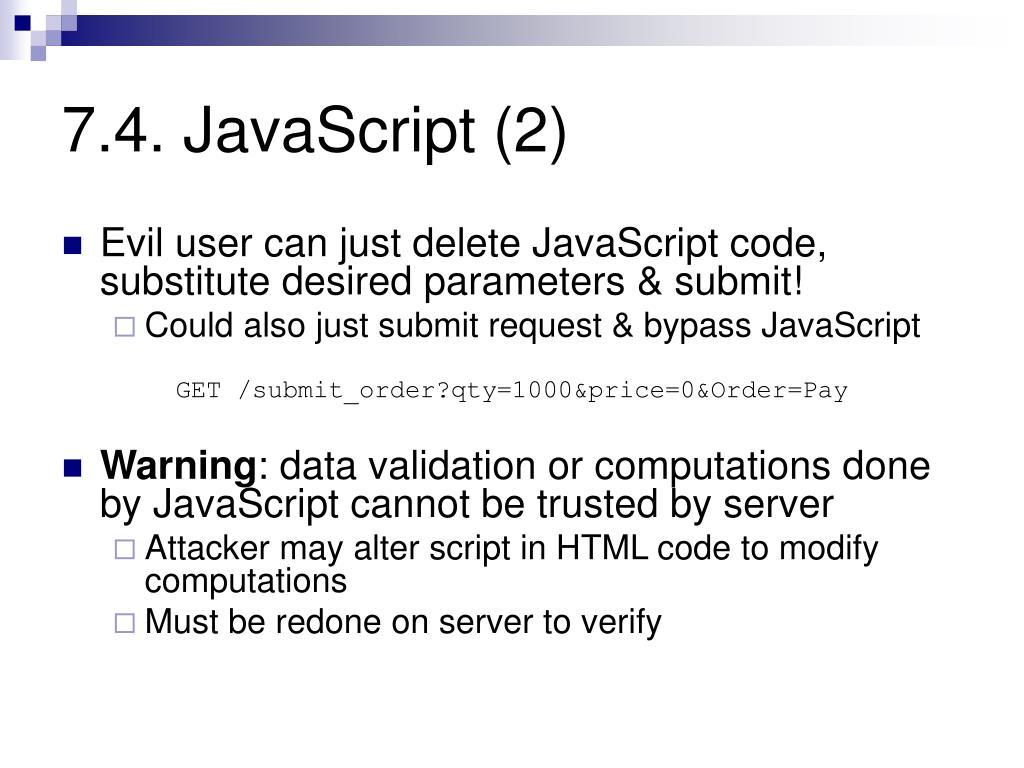 7.4. JavaScript (2)