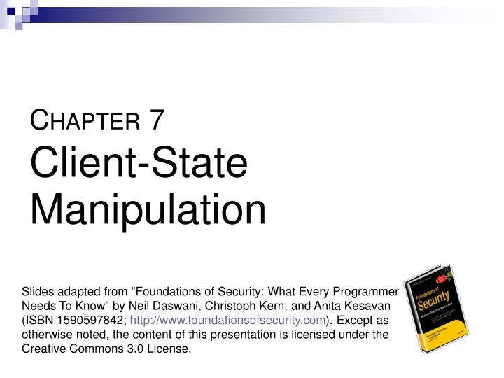 C hapter 7 client state manipulation