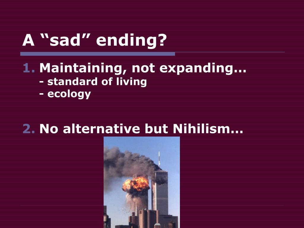 "A ""sad"" ending?"