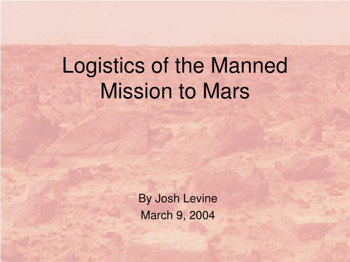 Logistics of the manned mission to mars l.jpg