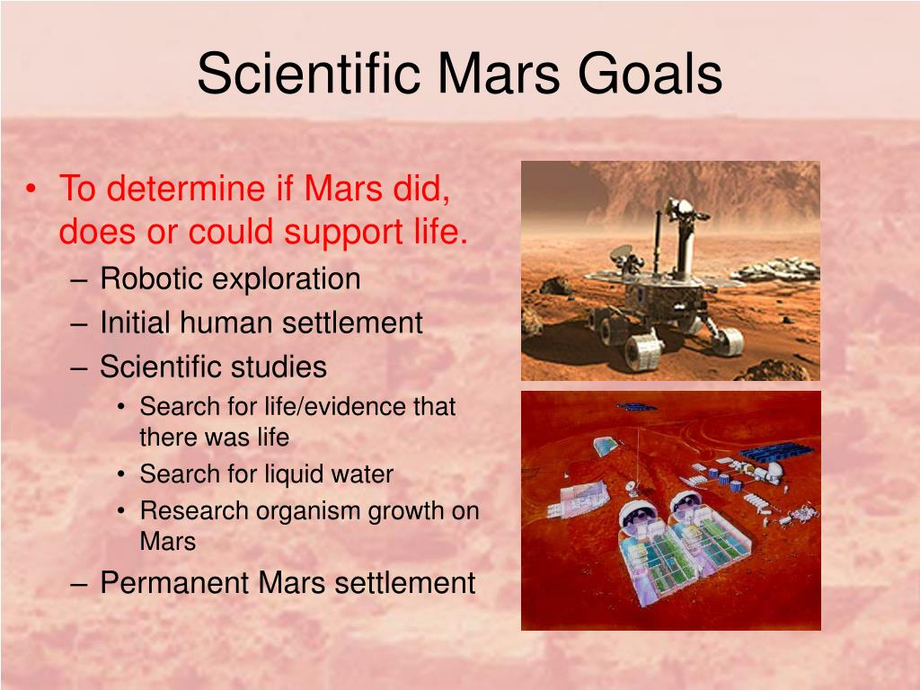 Scientific Mars Goals