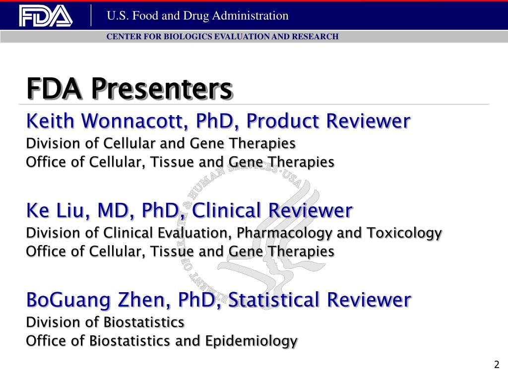 FDA Presenters