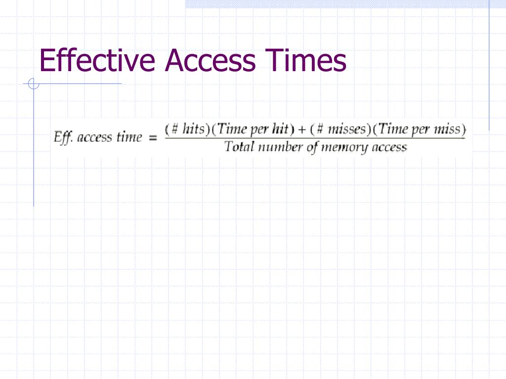 Effective Access Times