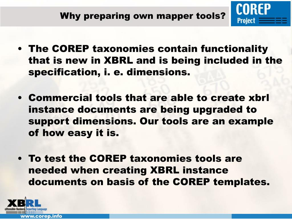 Why preparing own mapper tools?