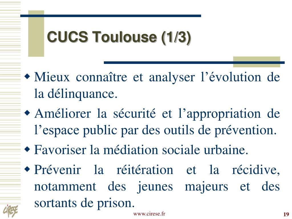 CUCS Toulouse (1/3)