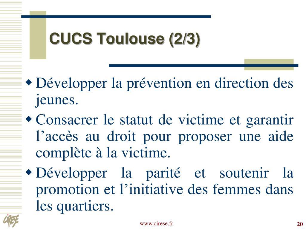 CUCS Toulouse (2/3)
