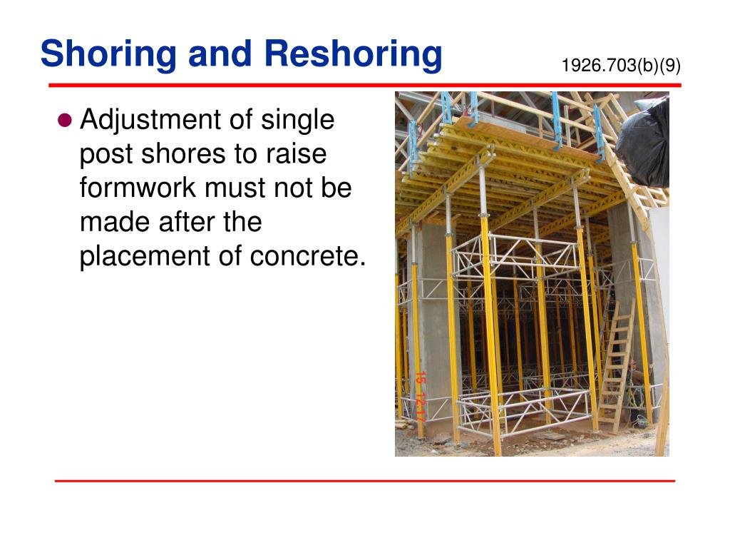 Shoring And Reshoring : Ppt concrete and masonry in construction powerpoint