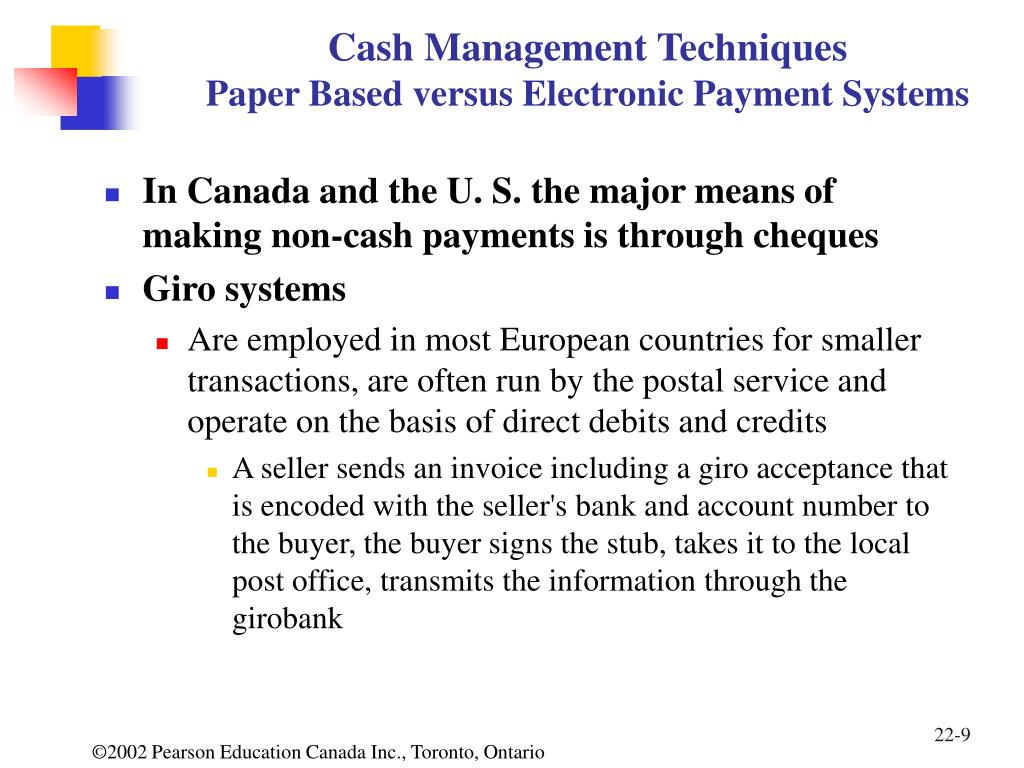 Cash pooling systems essay - College paper Sample