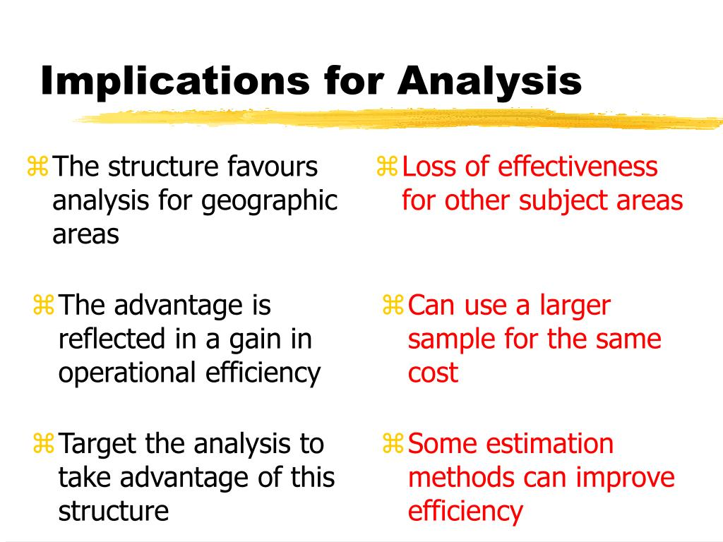 The structure favours analysis for geographic areas