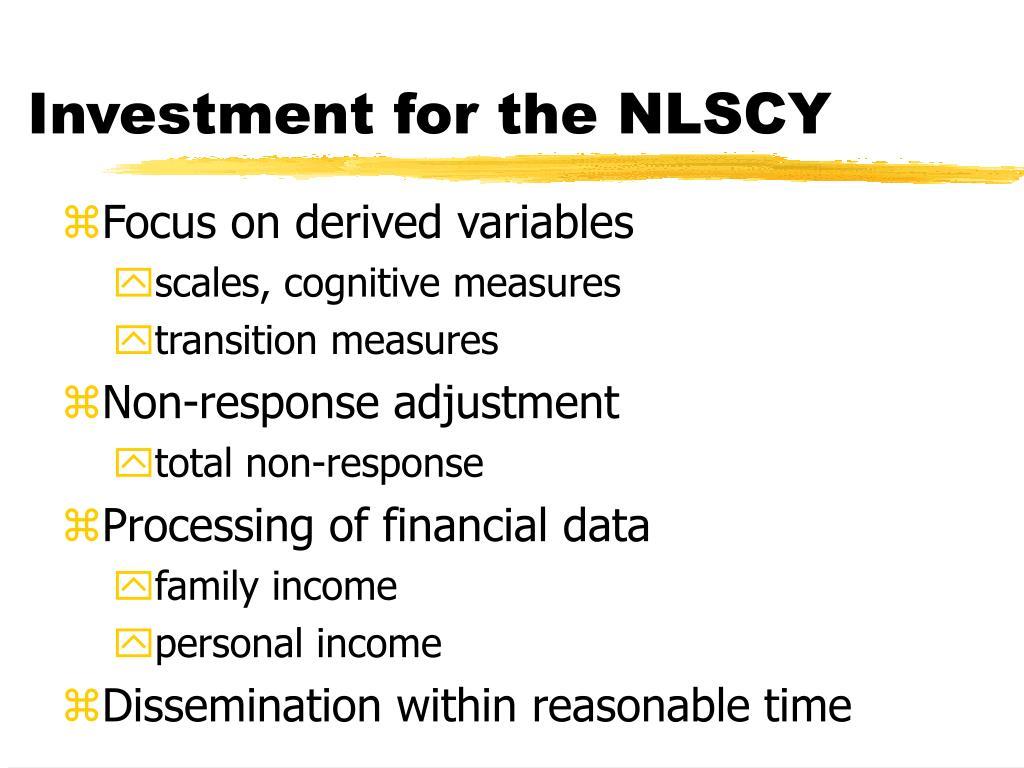 Investment for the NLSCY