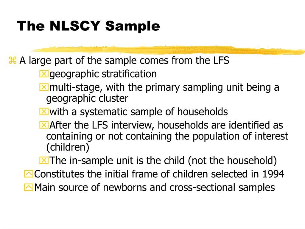 The NLSCY Sample