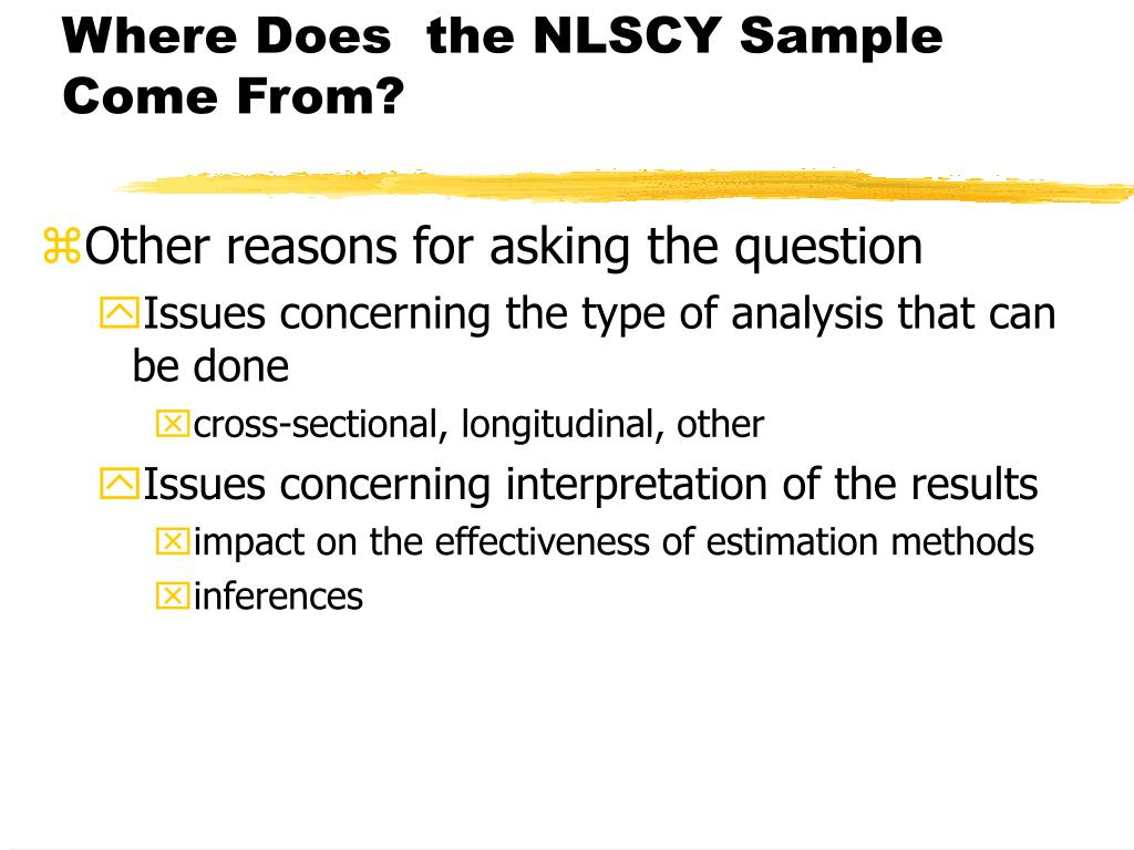 Where Does  the NLSCY Sample Come From?
