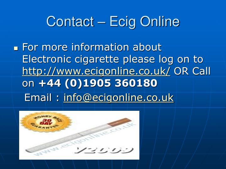 Contact – Ecig Online