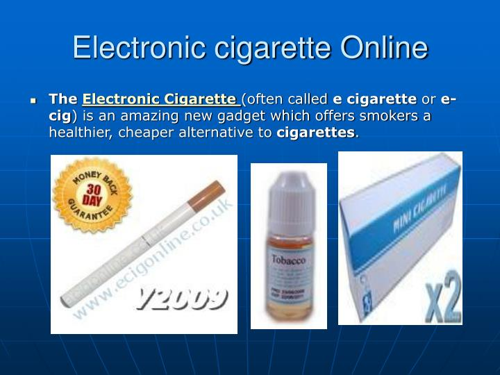 Electronic cigarette online