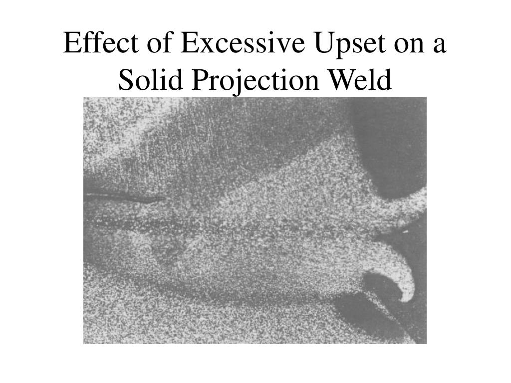 Effect of Excessive Upset on a Solid Projection Weld