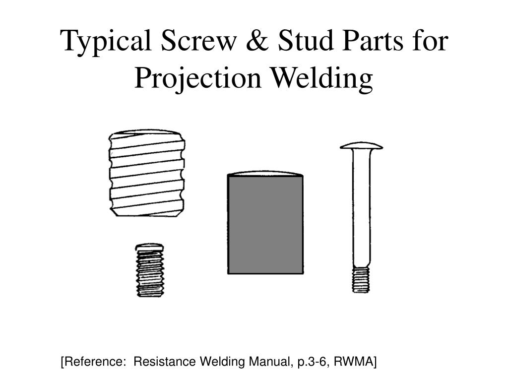 Typical Screw & Stud Parts for Projection Welding