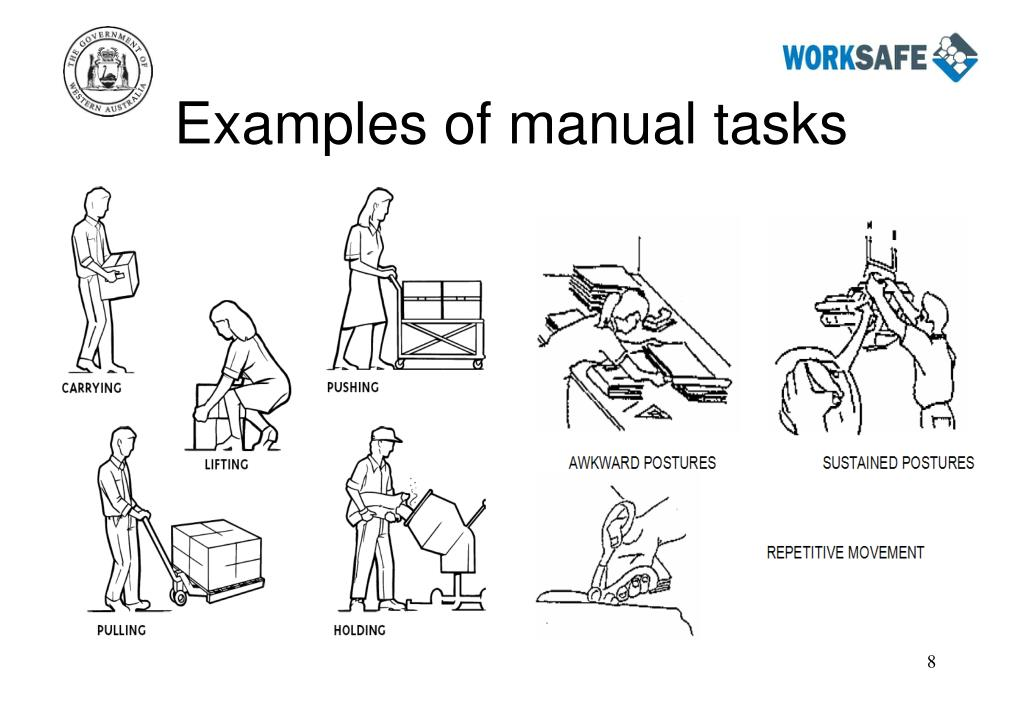 Examples of manual tasks