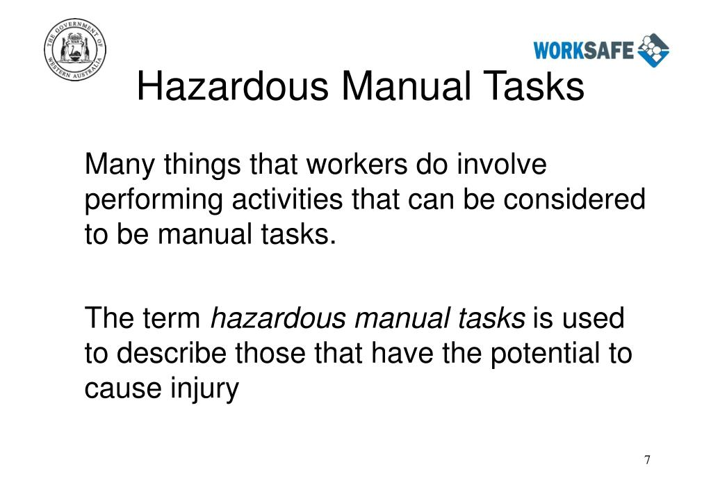 Hazardous Manual Tasks