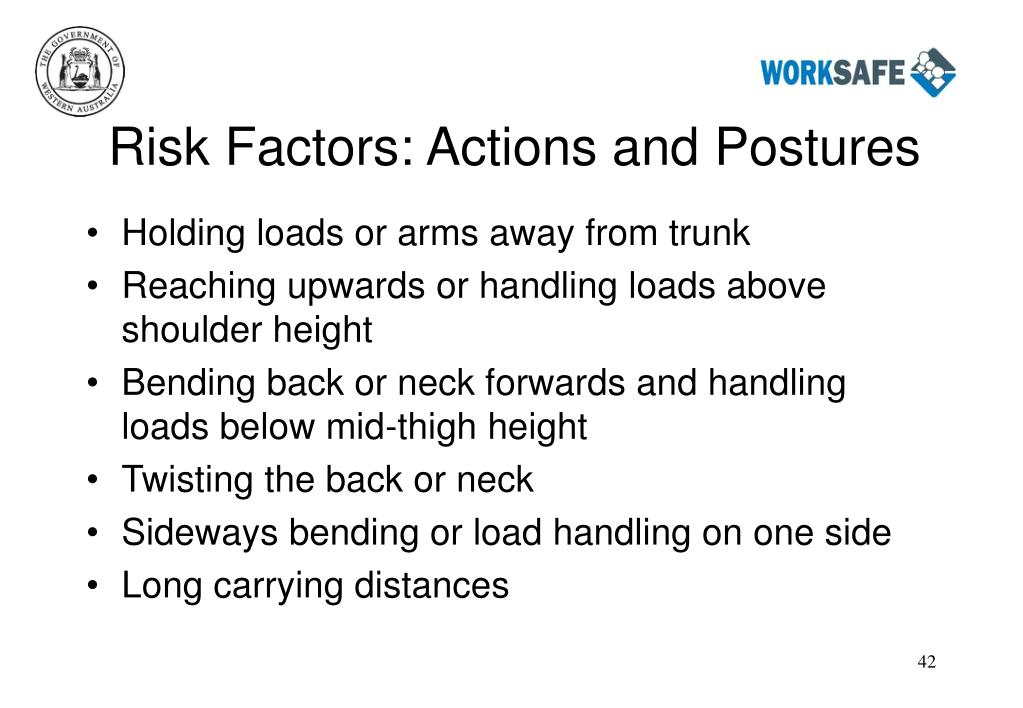 Risk Factors: Actions and Postures