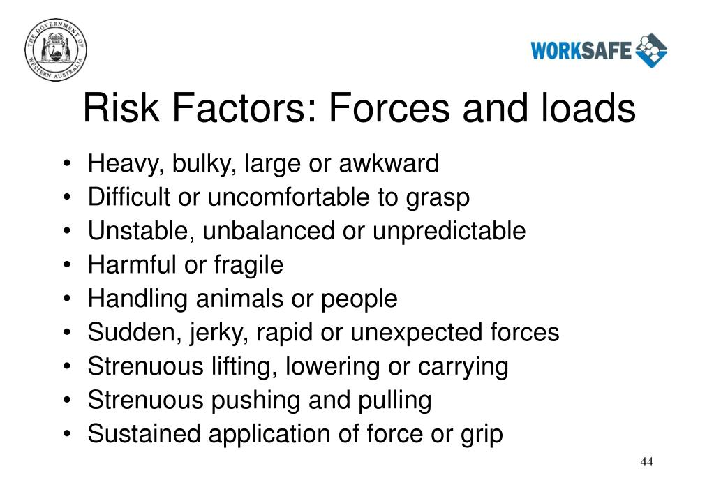Risk Factors: Forces and loads