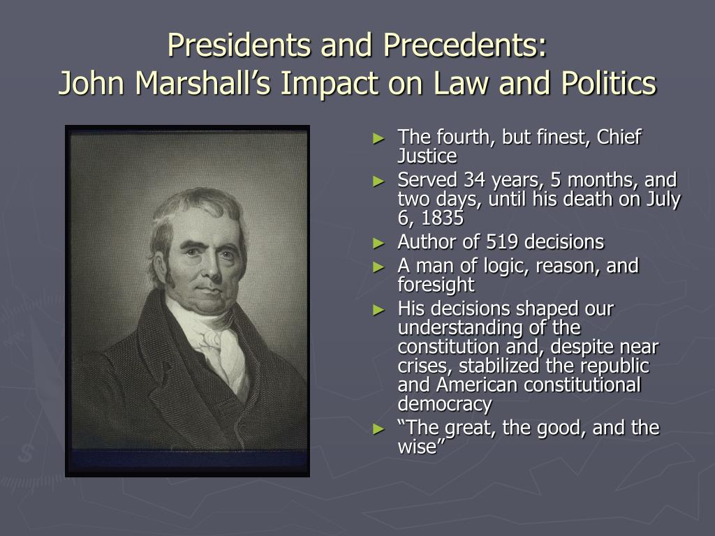 Presidents and Precedents: