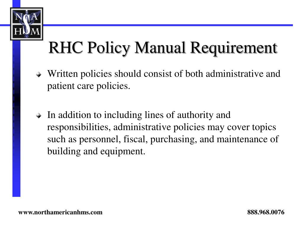 clinic policy and procedure manual