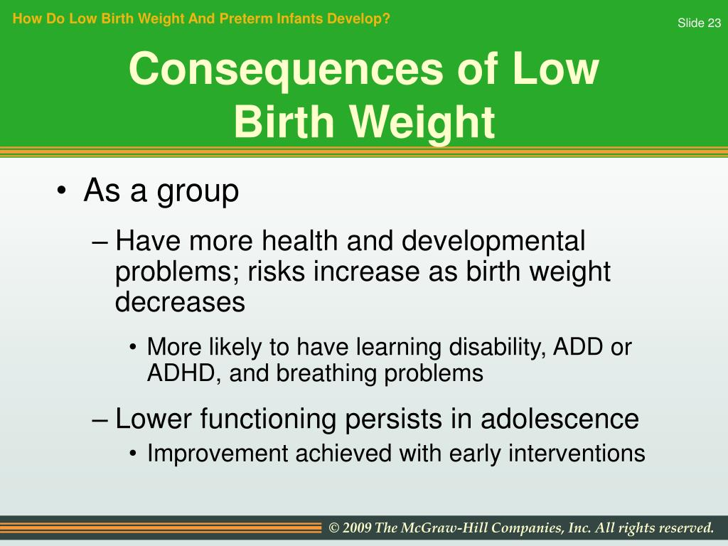 How Do Low Birth Weight And Preterm Infants Develop?