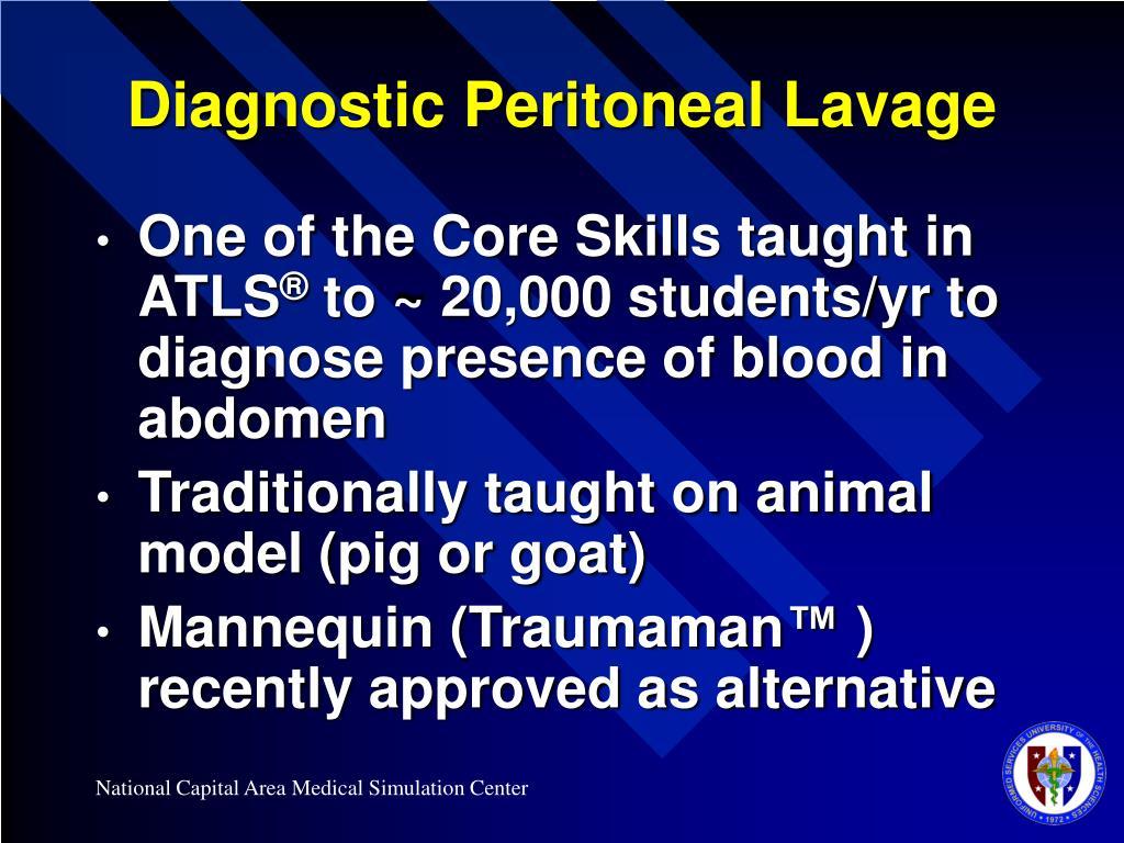 Diagnostic Peritoneal Lavage