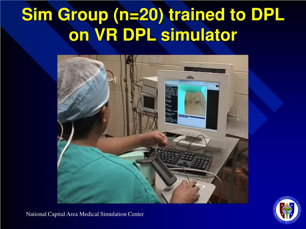 Sim Group (n=20) trained to DPL on VR DPL simulator