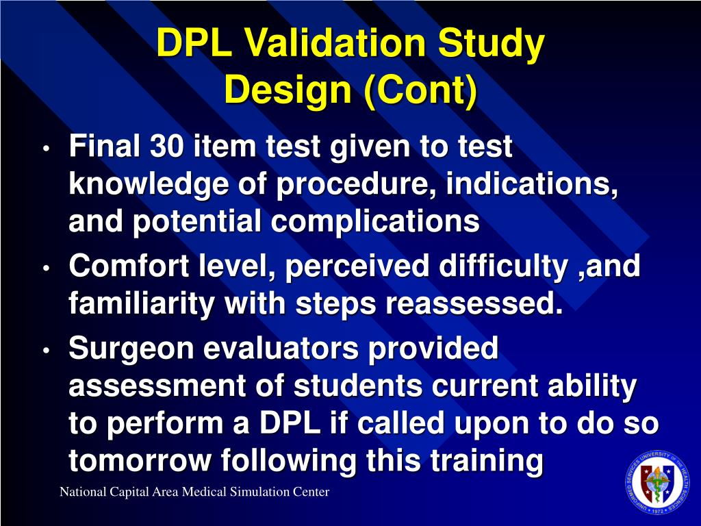 DPL Validation Study