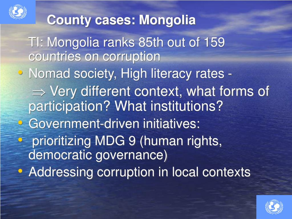 County cases: Mongolia