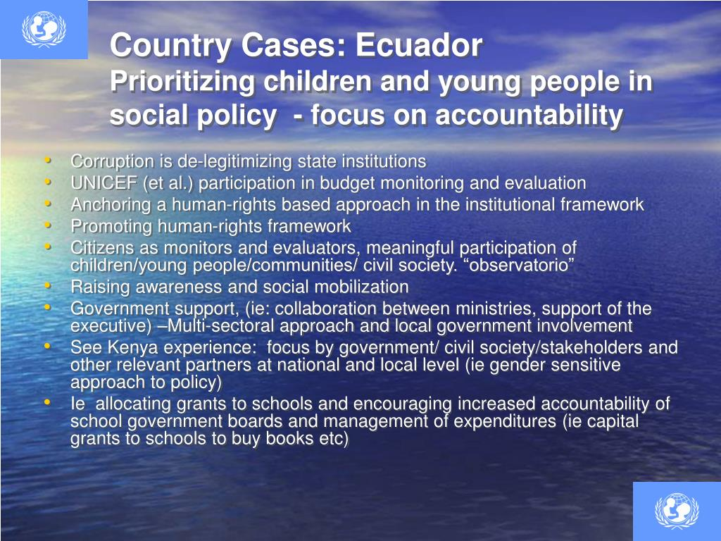 Country Cases: Ecuador