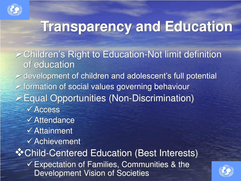 Transparency and Education