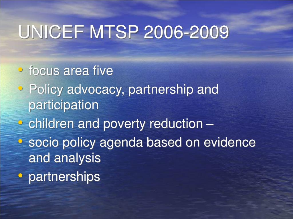 UNICEF MTSP 2006-2009