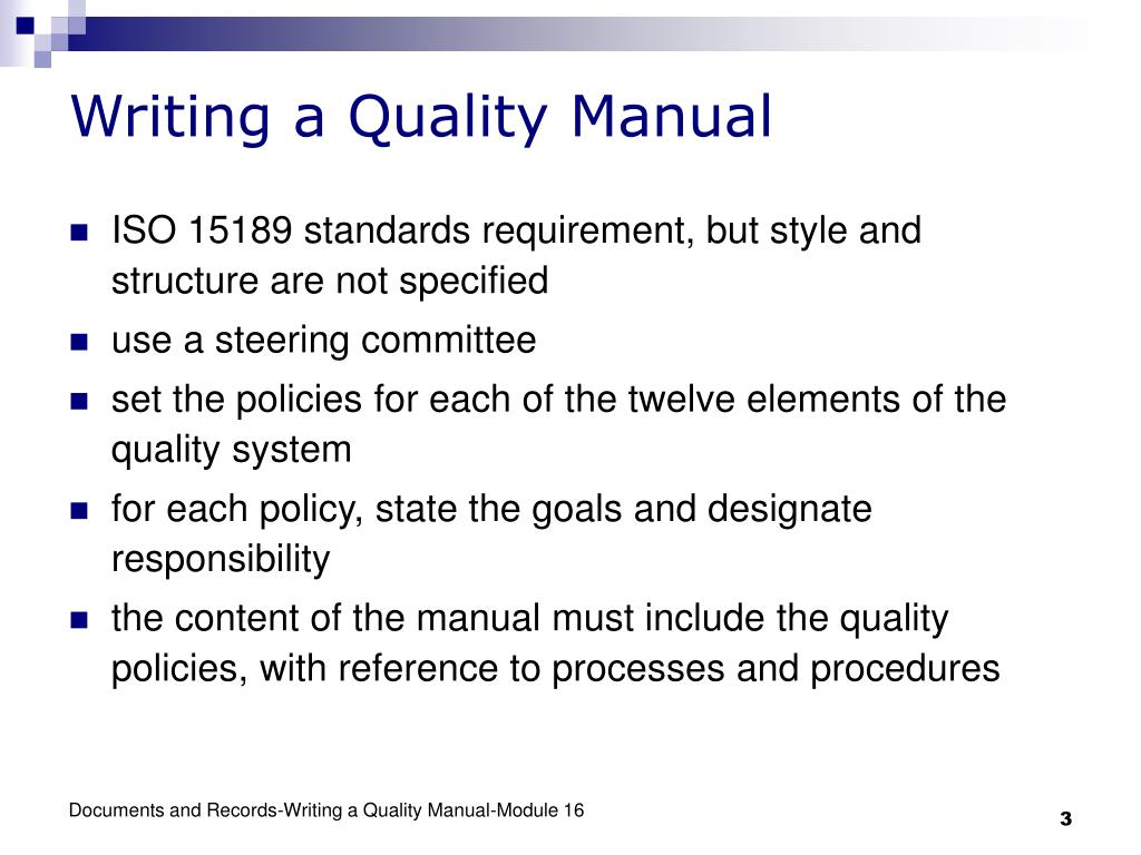 Pay for writing quality manual