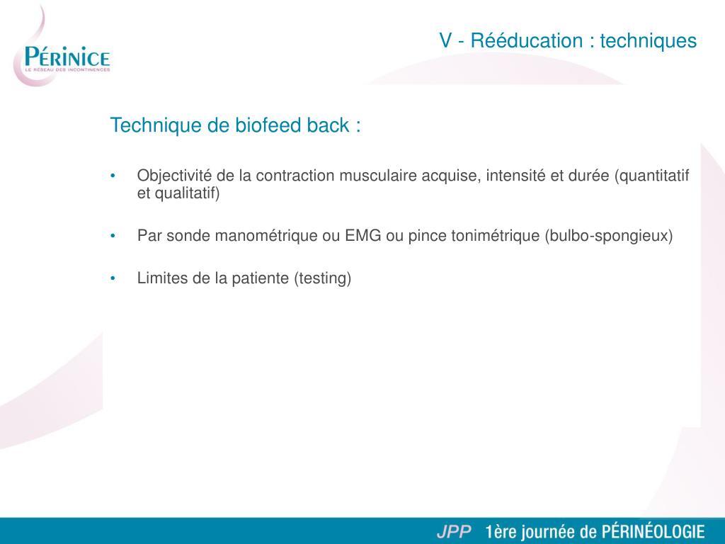 Technique de biofeed back :