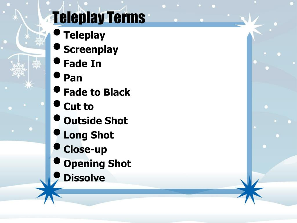 Teleplay Terms