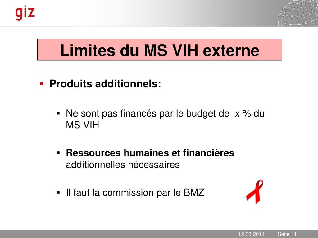 Limites du MS VIH externe