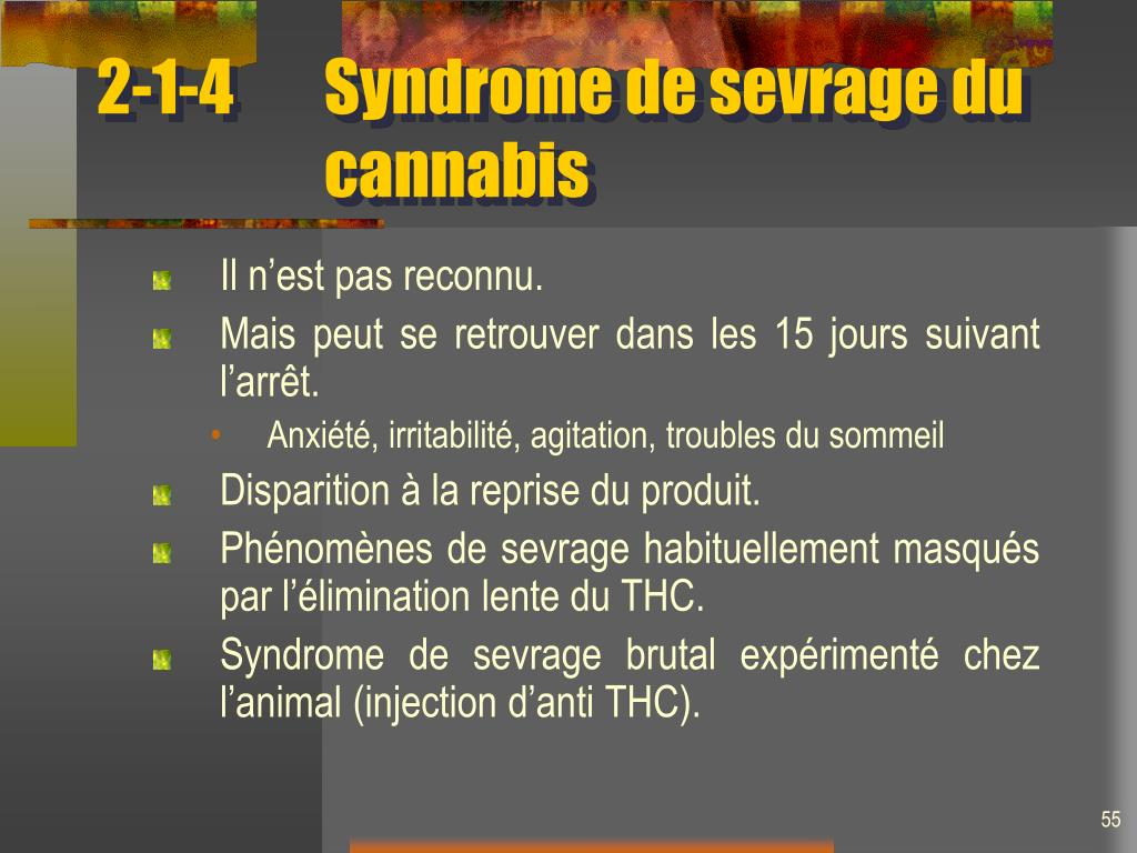 2-1-4Syndrome de sevrage du cannabis