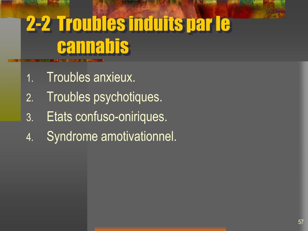 2-2Troubles induits par le  cannabis