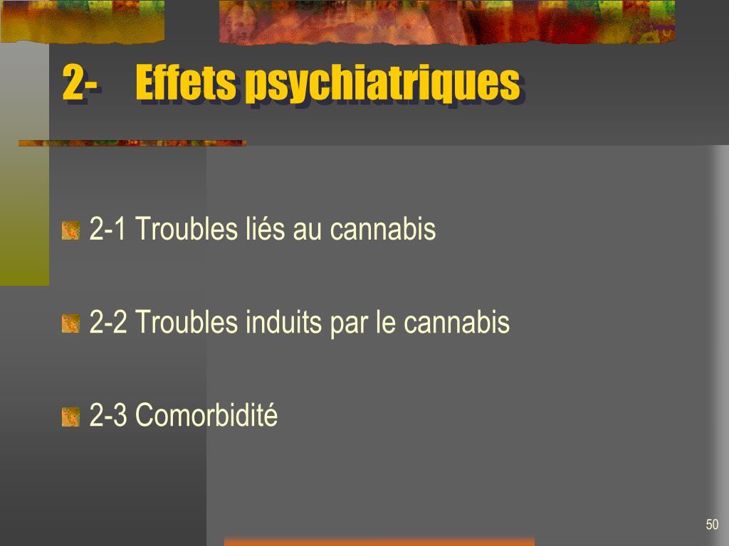 2-Effets psychiatriques