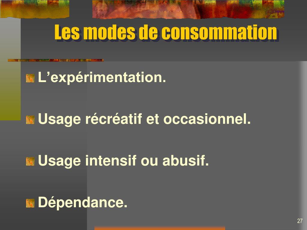 Les modes de consommation