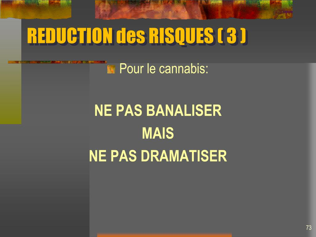 REDUCTION des RISQUES ( 3 )