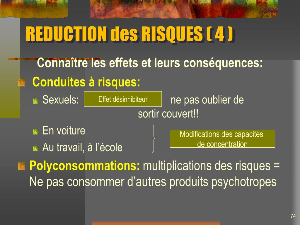REDUCTION des RISQUES ( 4 )