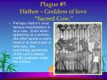 plague 5 hathor goddess of love sacred cow