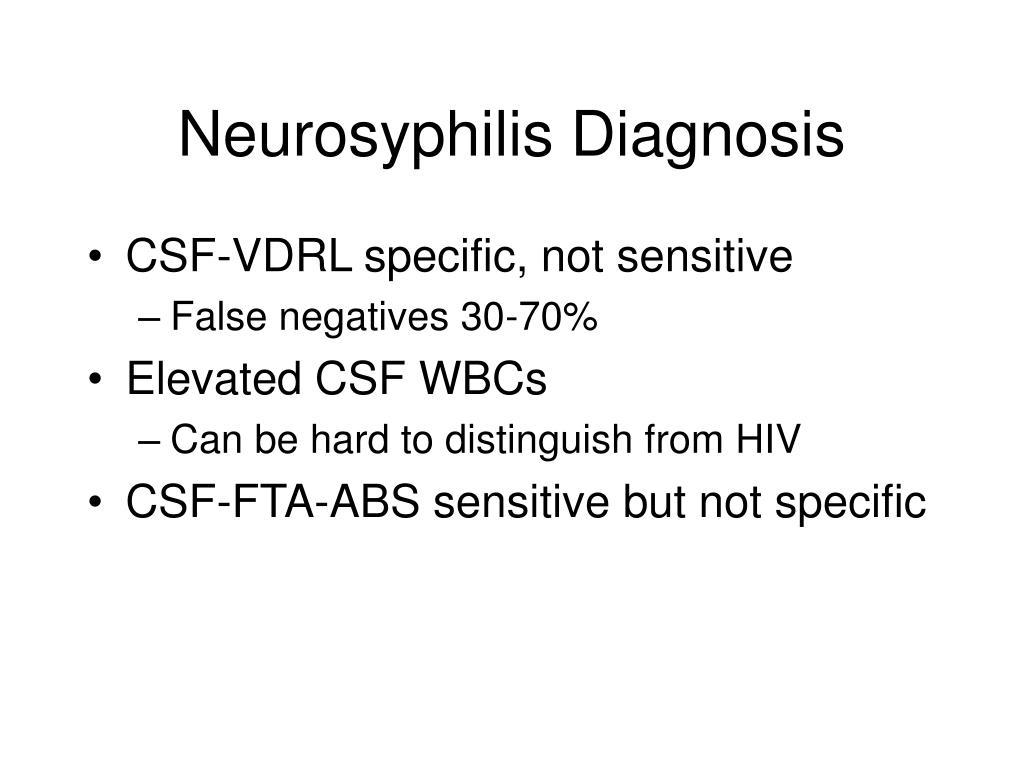 Neurosyphilis Diagnosis