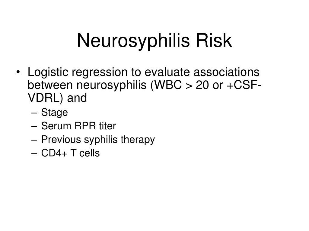 Neurosyphilis Risk